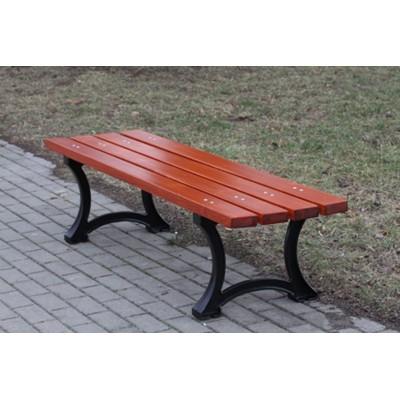 ławka parkowa bez oparcia