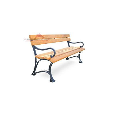 mocna ławka żeliwna